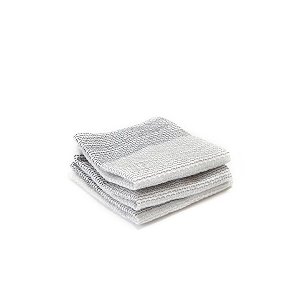Full Circle Tidy Organic Dish Cloths, Set of 3, Grayscale