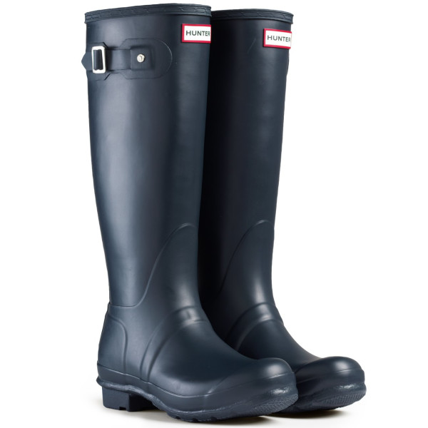 Women's Hunter Boots Original Tall Snow Rain Waterproof Boots - Blue - 5