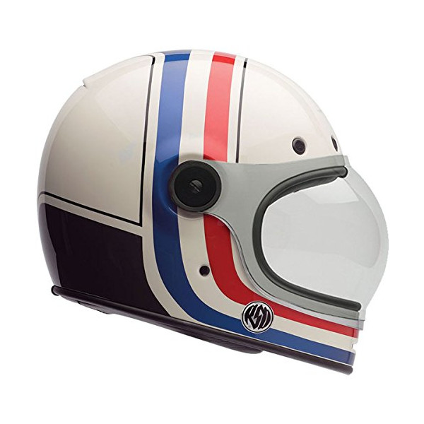 Bell RSD Viva Bullitt Motorcycle Helmet, White/Red/Blue