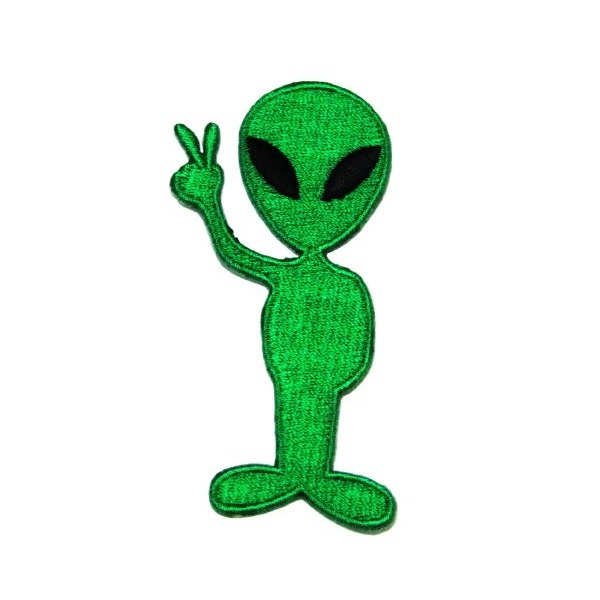 1 X Alien Cartoon Logo Iron on Patch Great Gift for Men and Women/ramakian