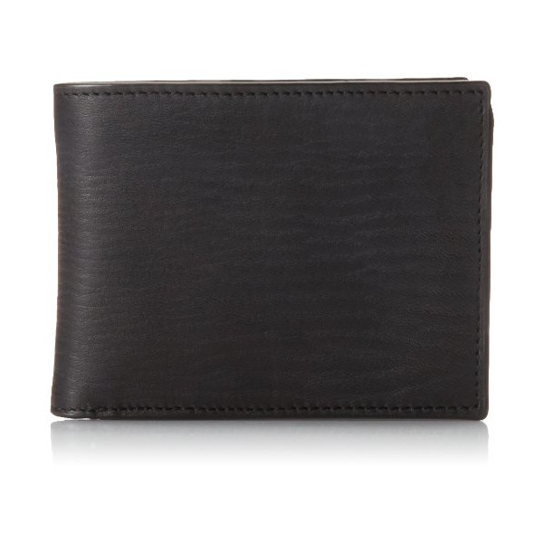 John Varvatos Men's Barrett Veg Billfold, Black, One Size