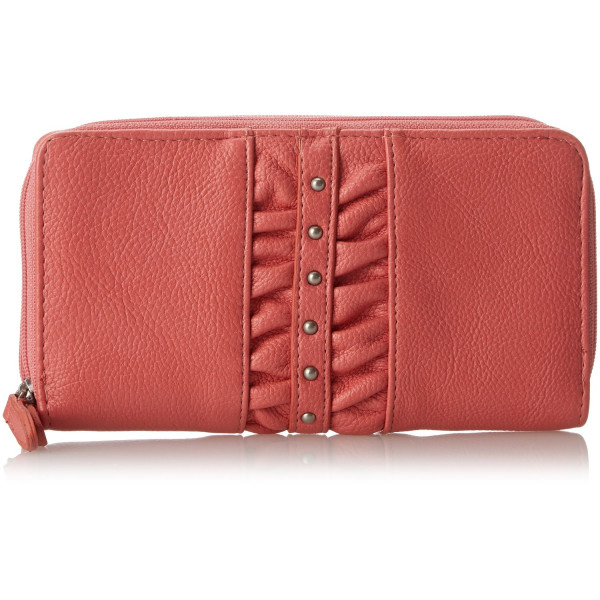 Jessica Simpson Allie Camila LG Double Z/A Card Case,Coral,One Size