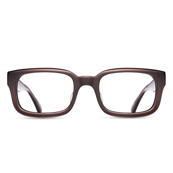 Matsuda M1010 matte brown copper rectangular Sunglasses