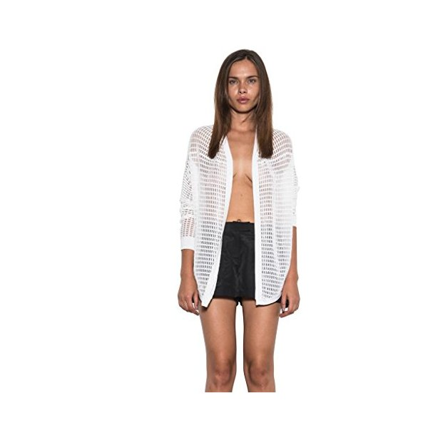 Women's Hi-Lo Jesse Bolero Open Front Cardigan Spring White By One Grey Day-L