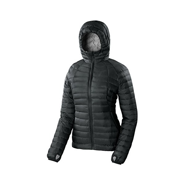 Sierra Designs Women's Elite DriDown Hoody Jacket, Black, Small