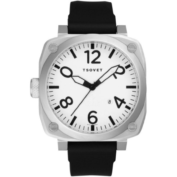 Tsovet Nm Men's Black Rubber Strap Aero Watch SVT-AR77