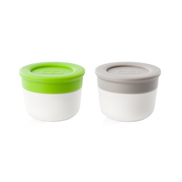 Monbento Sauce Containers Green and Grey (Set of 2)