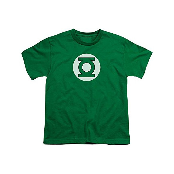 DC/GREEN LANTERN LOGO - S/S Youth 18/1 - KELLY GREEN - SM