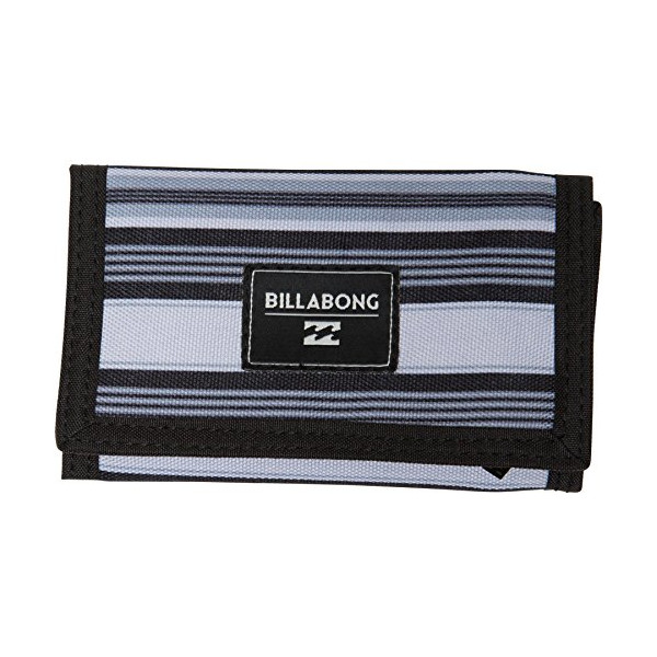 Billabong Men's Atom Tri-Fold Wallet, Grey, One Size