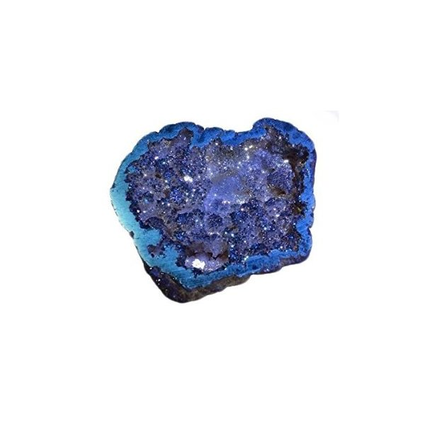 Druzy Agate Tetrahedrite Titanium Mineral Specimen Rainbow Colors Blue Pocket Geode Over 2 1/2""