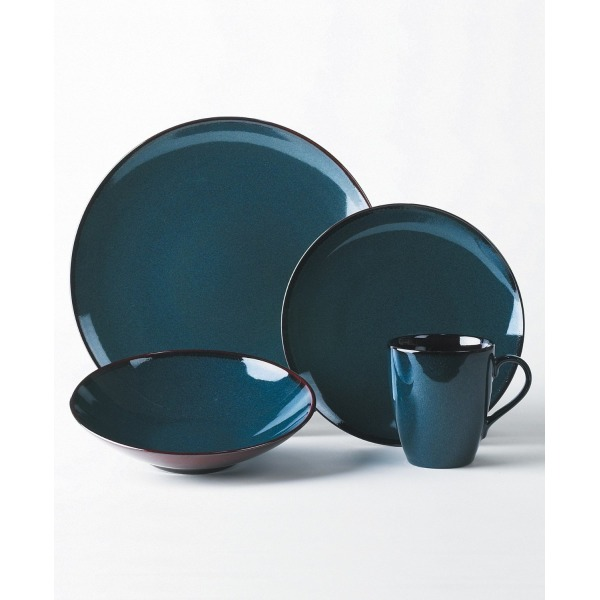 Mikasa Sedona Blue 4-Piece Dinnerware Set, Service for 1