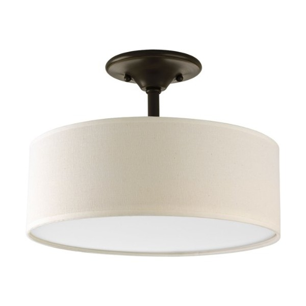 Progress Lighting P3939-20 Inspire Collection 2-Light Semi-Flushmount, Antique Bronze