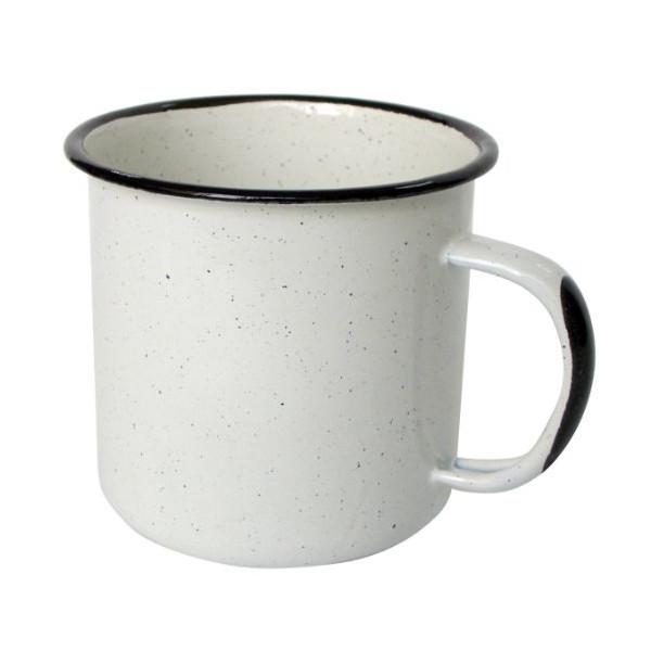 Benecasa Enamel Mug, 12-Ounce, White