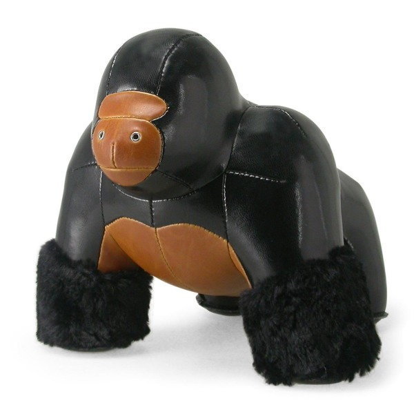 Milo the Gorilla Doorstop Color: Black