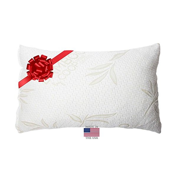 Shredded Memory Foam Pillow with Bamboo Cover - Coop Home Goods - Made in USA - KING