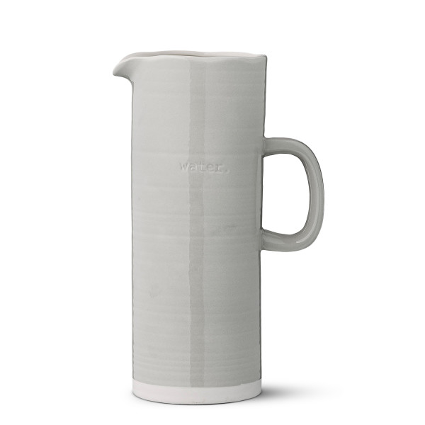 Bloomingville Ceramic Grey Embossed Water Pitcher, Multicolor