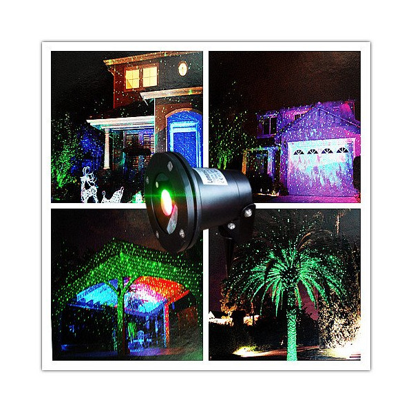 Remote Controllable RGB Laser Outdoor Garden Landscape Light Red, Green and Blue By Ledmall