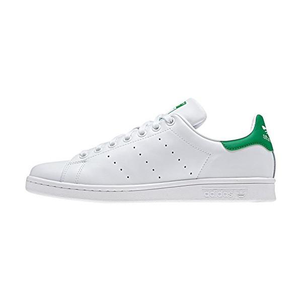 Adidas Men's Stan Smith, WHITE/GREEN/FAIRWA, 7.5 M US