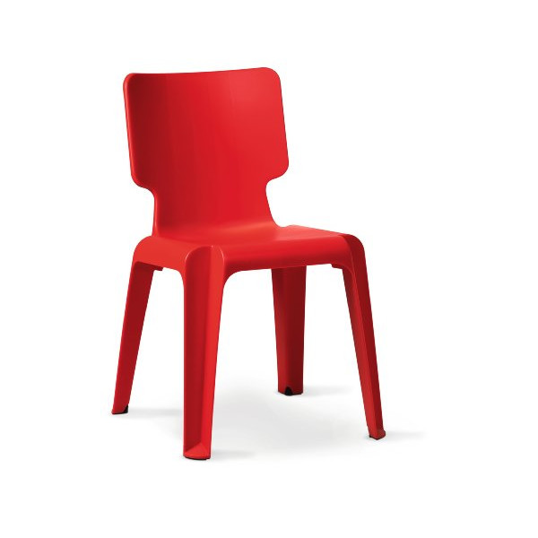 Authentics Wait Plastic Chair red
