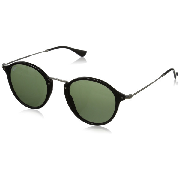 Ray-Ban Men's Aviator Sunglasses, Black Green & Matte Silver