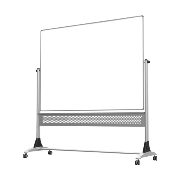 Best-Rite Platinum Mobile Reversible Whiteboard Easel, 4 x 6 Feet Panel Size, Dura-Rite HPL Markerboard Surface (669RG-HH)