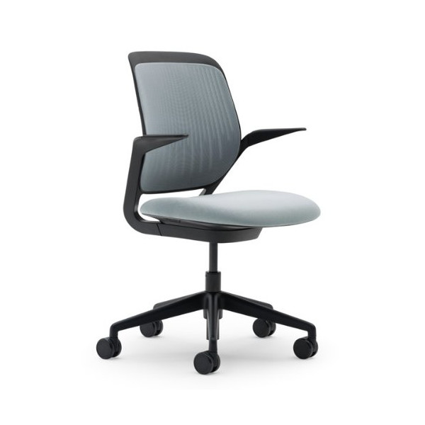 Steelcase Cobi Fabric Chair, Nickel