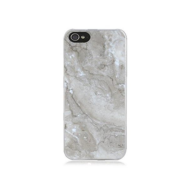 DECO FAIRY® Natural Marble Rubber Snap on Case Cover for Apple iPhone 5C (Natural Grey Marble)