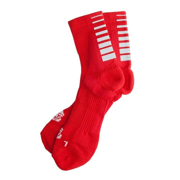 ICNY Quarter Ankle Gradient Socks, Red