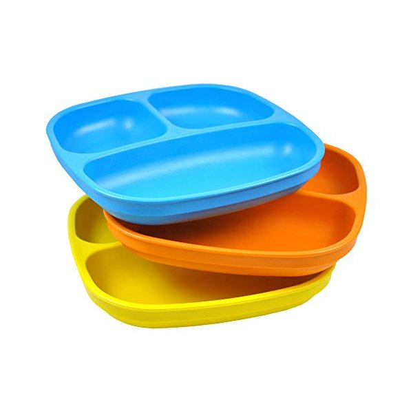 Re-Play 3pk Divided Plates (Spring)
