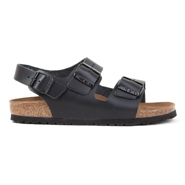 Birkenstock Men's Milano Sandal, Black Leather