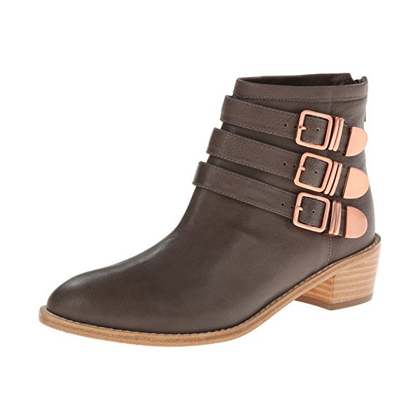 LOEFFLER RANDALL Women's Fenton Boot, Grey/Copper, 9 M US