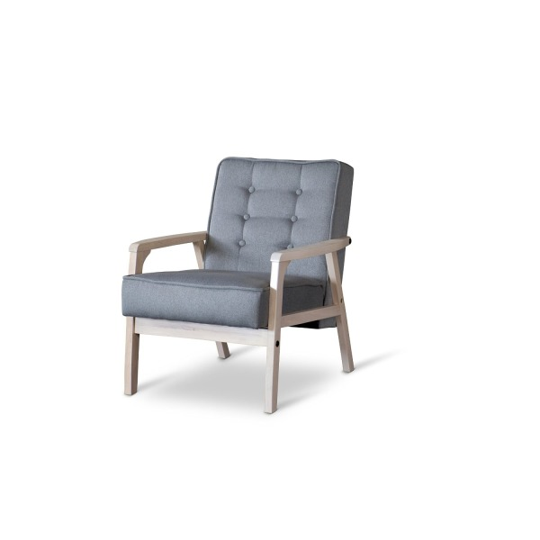 Baxton Studio Mid-Century Timor Club Chair, Gray