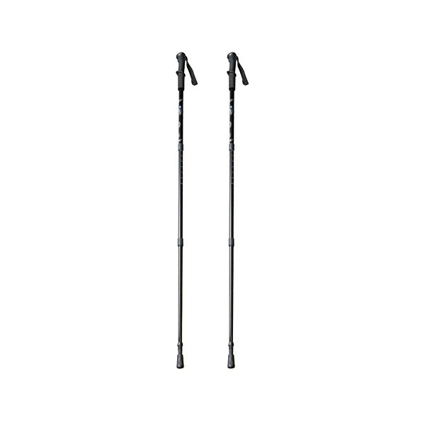 BAFX Products® - 2 Pack - Anti Shock Hiking / Walking / Trekking Trail Poles - 1 Pair (Black)
