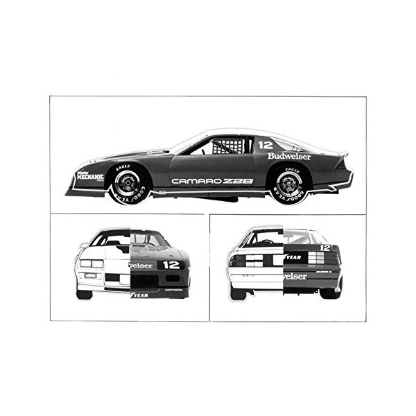 1984 Chevrolet Camaro Z28 Iroc Race Car Photo Poster