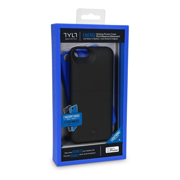 Tylt Energy Sliding Power Case for iPhone 5/iPhone 5s - Retail Packaging - Blue