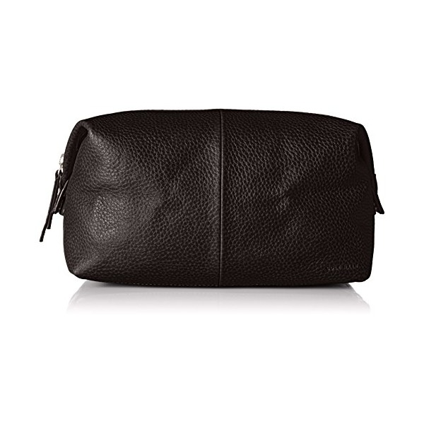Cole Haan Men's Pebble Leather Dopp Kit, Chocolate, One Size