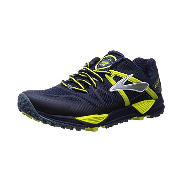Brooks Cascadia 10 Trail Running Shoe - Men's Midnight/Sulphur Spring, 11.0