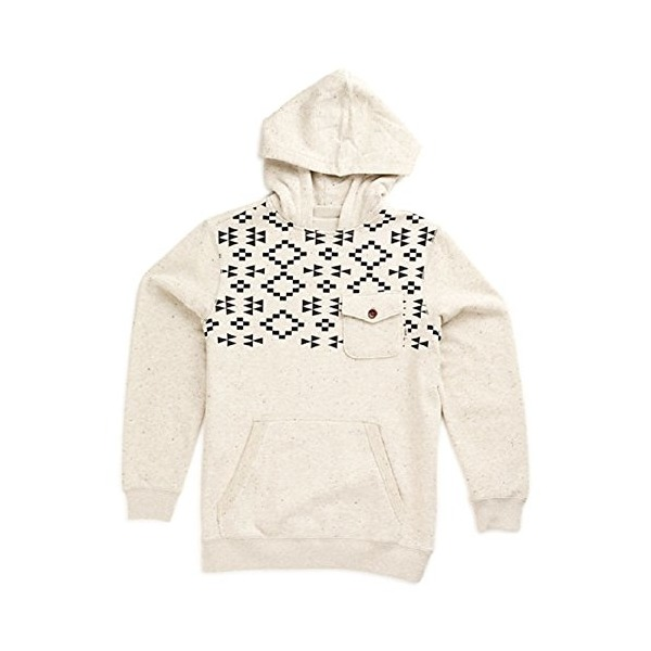Vans Mens Robley Native Pocket Hoodie Oatmeal/Heather (Medium)