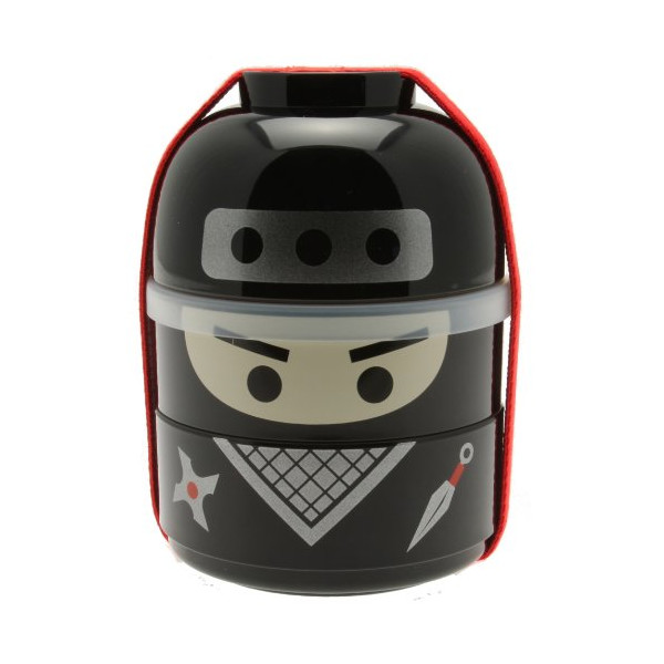 Kotobuki Ninja Boy Bento Box Set, Black
