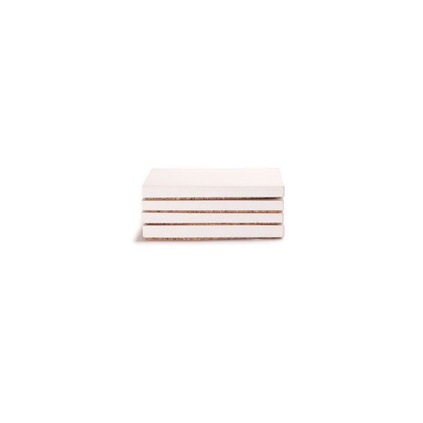 Culinarium - square concrete coaster - white