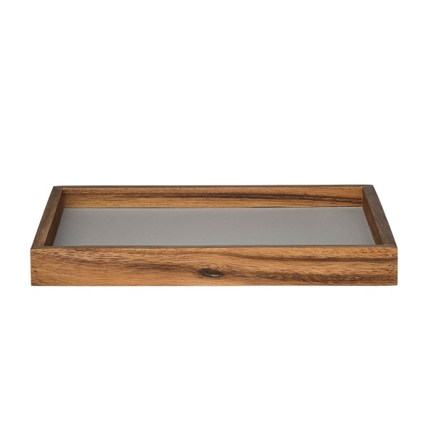 Bloomingville Wood Tray with Grey Bottom, Multicolor