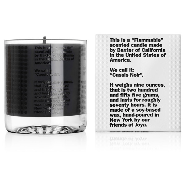 Baxter of California Noir Series Candle, Cassis