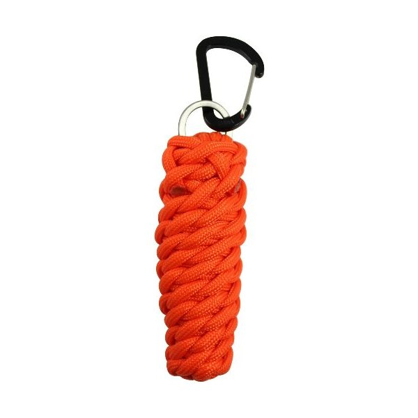 Bison Designs Paracord X-Stream Survival Pod, Orange