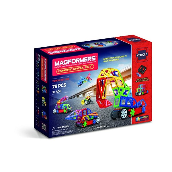 Magformers Amazon Exclusive Dynamic Wheel Set (79 Piece)