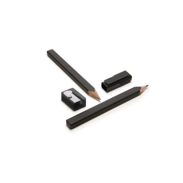 Moleskine Black Pencil Set, Writing Collection - Set of 2 + Sharpener