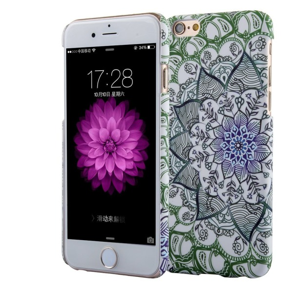 iPhone 6S Case, Leminimo(TM) Mandala Henna Style Luminous 3D Rubber Coating Cover for Apple [4.7 Inch] iPhone 6(2014), iPhone 6S(2015)