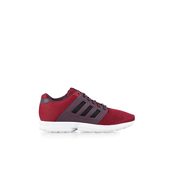Adidas Originals Men's Collegiate ZX Flux 2.0 Burgundy Size 7.5 (EU 41 1/3) textile. inside