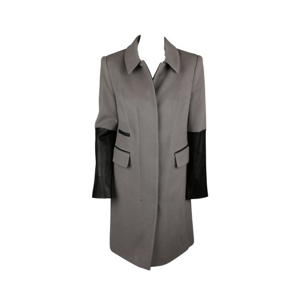 Diane von Furstenberg Womens Adobe Black Sterling Trench Coat 8