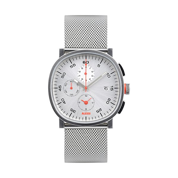 Alessi Men's AL5030 Tic15 Analog Display Analog Quartz Silver Watch
