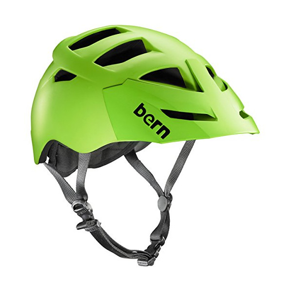Bern Unlimited Morrison Helmet with Green Visor, Matte Neon Green, Small/Medium